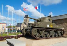 M4 Sherman Tank In Normandy France