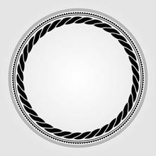 Round Marine Rope Frame Isolat...