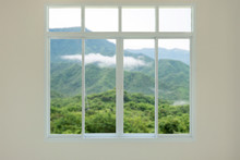 Modern House Window View With ...