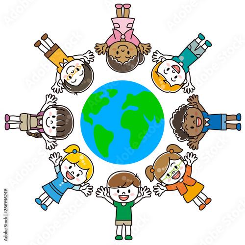 世界の子供達 Fototapet