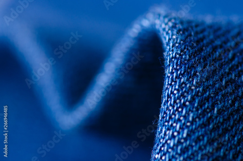 Blue jeans fabric cloth material texture textile macro blur background Wallpaper Mural