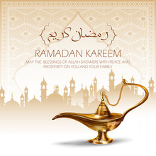 Illustration Of Ramadan Kareem...