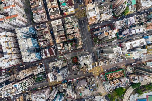 Top view of Hong Kong city Fototapet