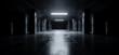 canvas print picture - Sci Fi Modern Dark Concrete Cement Asphalt Futuristic Spaceship Elegant Underground Garage Tunnel Corridor Empty Space White Glow Glossy Columns 3D Rendering