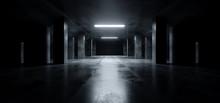 Sci Fi Modern Dark Concrete Ce...