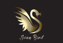 Gold Swan Logo Vector