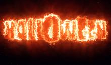 Halloween Hellish Fiery Text Title