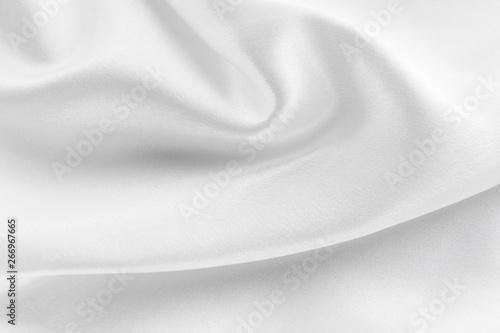 Obraz na plátně  white silk texture