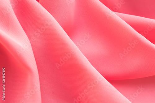 Obraz na plátně  pink silk texture