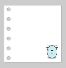 Notebook Paper Background -  Animal Design On Paper Background