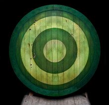 Green Concentric Circles On Barrel