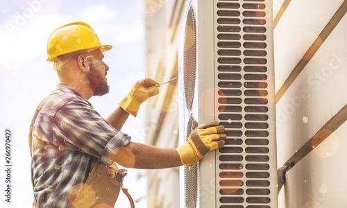 Ac air appliance change checking clean condition Canvas Print