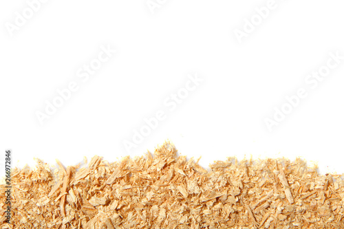 Fototapeta  Background from a freshly cut brown sawdust