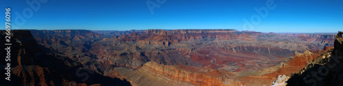 Tuinposter beautiful Grand Canyon Panorama from South Rim with Bright Blue sky