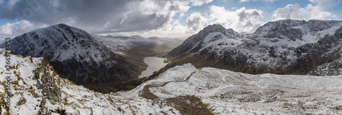 Canvas Print Images from Llyn Ogwen, Y Garn, Llyn Idwal, Tryfan and slopes in Snowdonia, North Wales