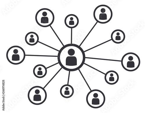 Networking social media concept business communication vector illustration symbo Wallpaper Mural