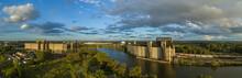 Buffalo River, Old Grain Elevators, Buffalo, New York