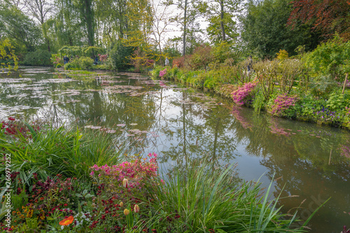 Giverny, France - 05 07 2019: The gardens of Claude Monet in Giverny Wallpaper Mural