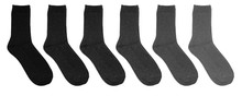 Grey Socks Of Different Colors...