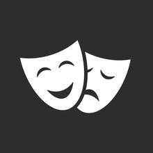 Theatre Masks Vector Icon