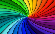 Rainbow Modern Swirl, Colorful...