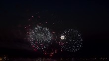 The Fireworks In The Night Sky 9 May 2019 In The Perm City