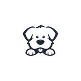Fototapeta Fototapety na ścianę do pokoju dziecięcego - dog logo design vector
