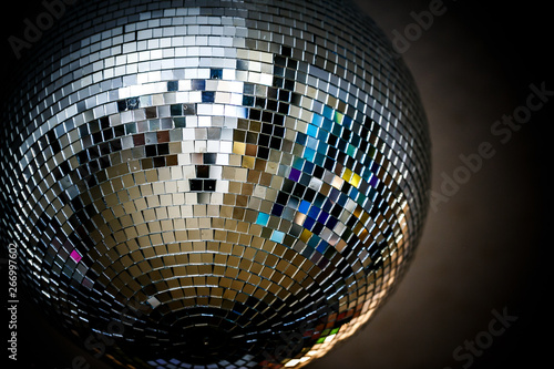 Disco Mirror sphere. Disco Mirror ball as a sphere clean with no disturbing reflections - 266997602