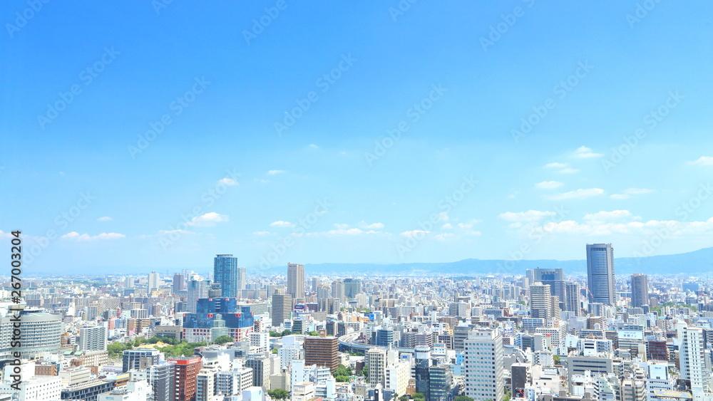 Osaka, Japonia gród gród, miasto, miasto, wieżowiec