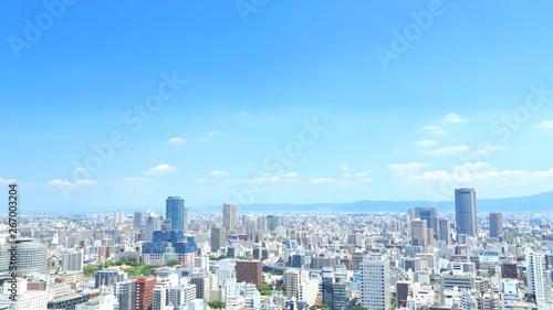 Fototapeta  日本・大阪の都市景観 街並み, 都会, 都市, 摩天楼,
