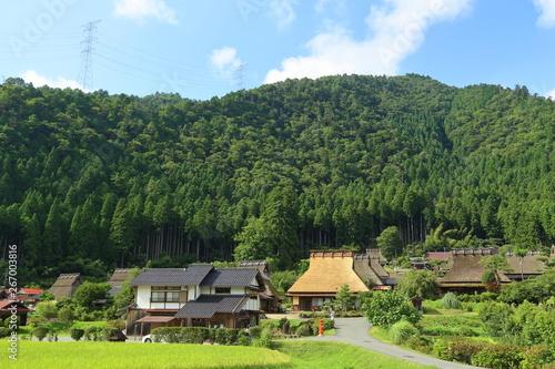 Obraz 京都・田舎の風景, 美山, 農村, 日本 - fototapety do salonu