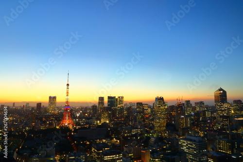Spoed Foto op Canvas Oceanië 東京・都市景観, シティ・都市・夜景