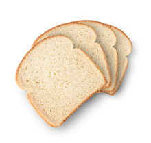 Set Of Slices Toast Bread Isolated On White
