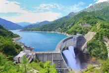 夏の黒部ダム 観光, 富山, ダム
