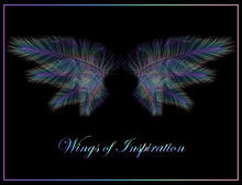 Holographic Wings - Iridescent Wings Of Inspiration - Concept Vector Icon Isolated On Black