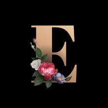 Floral Letter E Font