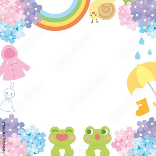 梅雨 フレーム枠1