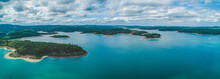 Wide Aerial Panorama Of Scenic...