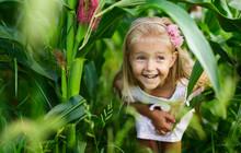 Portrait Of Adorable Little Gi...