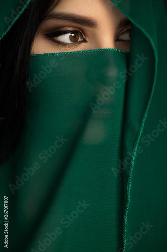 Beautiful Woman in Traditional Costume Fototapeta