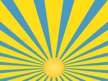 Sunrays Retro Vector