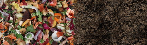 Obraz Compost And Composted Soil - fototapety do salonu