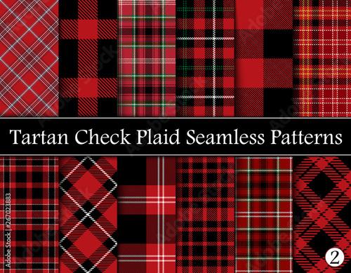 Set  Tartan Plaid Scottish Seamless Pattern Wall mural