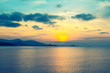 Beautiful sunset at the sea ,Koh Samui ,Thailand .Nice view of summer ,nature wallpaper background