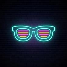 Neon Shutter Shades Sunglasses...