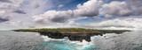 Aerial view of Pont Naturel Mauritius. Natural stone bridge, atraction of southern coastline in Mauritius - 267029425