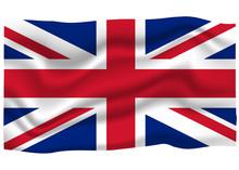 Great Britain Flag Icon. National Flag Banner. Cartoon Vector Illustration