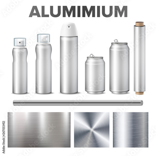 Aluminium And Product Made From Metal Stuff Vector Canvas Print