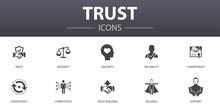 Trust Simple Concept Icons Set...