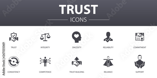 trust simple concept icons set Canvas